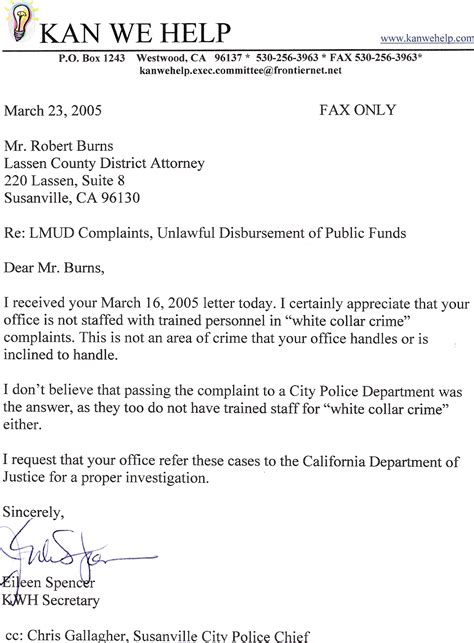 Substitution Of Attorney Cover Letter how to write a district attorney letter sle