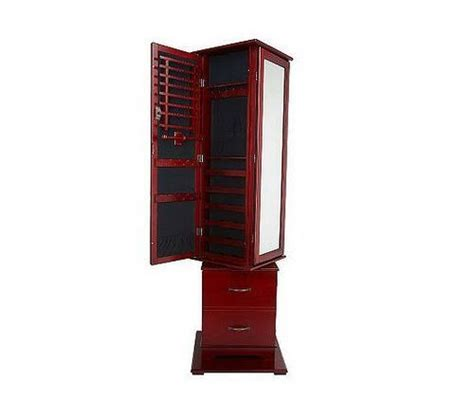 Lori Greiner Spinning Jewelry Armoire lori greiner safekeeper trifold jewelry box cabinet holder
