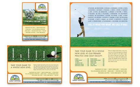 Template Flyer Course | golf instructor course flyer ad template design