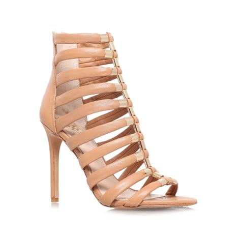 sendal high heels t53 brown vince camuto troy high heel strappy sandals in brown lyst