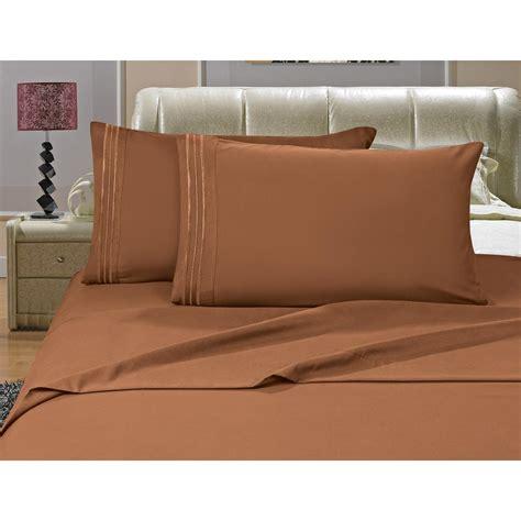 comfortable bed sheets elegant comfort 1500 series 4 piece bronze triple marrow