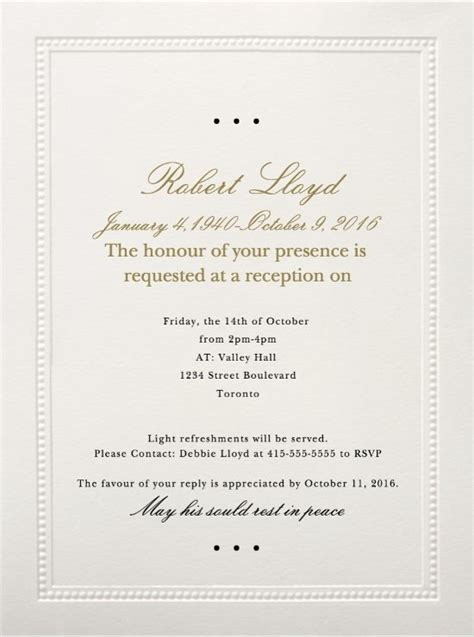 invitation letter to burial ceremony sle of funeral invitation letter cobypic