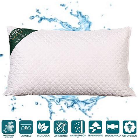 cuscini per cervicali cuscini letto o arredo divano alti 15 cm lavabili in