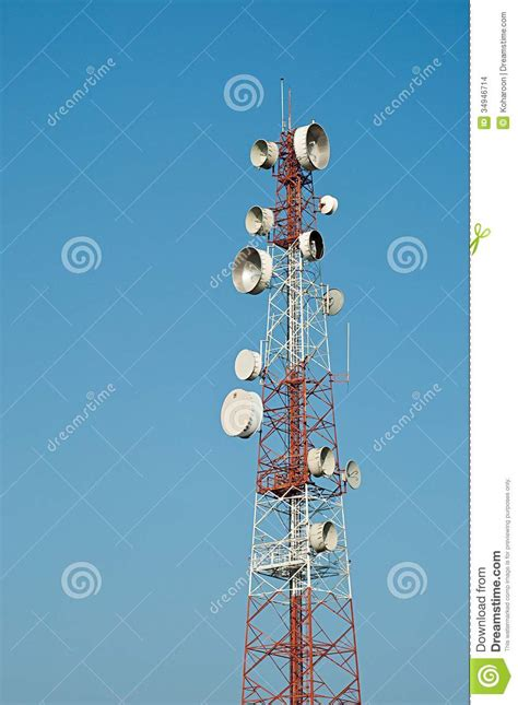 Microwave Bluesky microwave transmission tower 05 stock images image 34946714