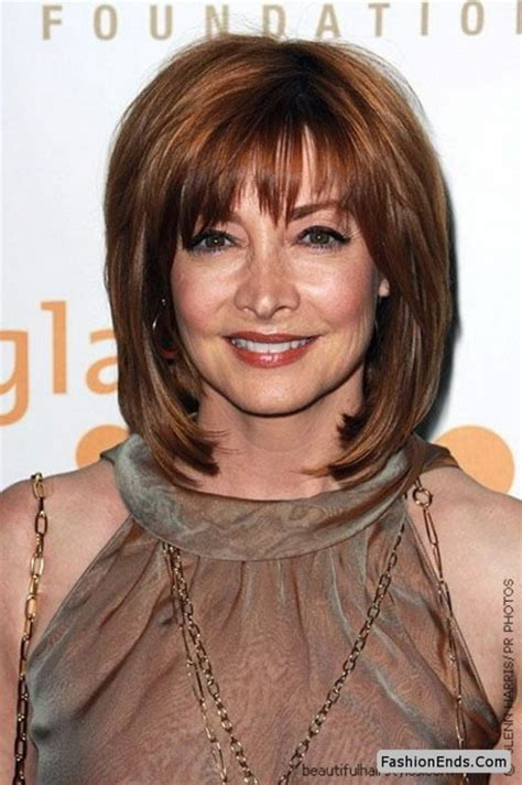 hair styles with bangs for women over 50 with round face hairstyles for women over 40