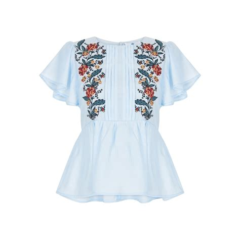 Floral Embroidered Top bright beautiful folk floral embroidered top