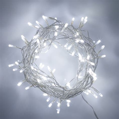 80 white led indoor fairy lights on clear cable 24v