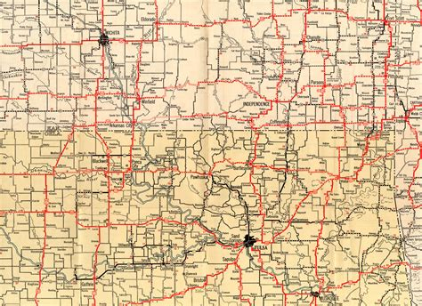 road map of texas and oklahoma 1932 texaco highway map of southern kansas and northern oklahoma