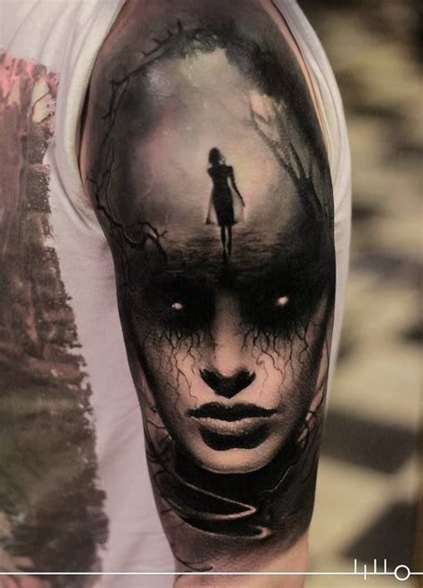 mysterious half sleeve by rainer lillo tattoos