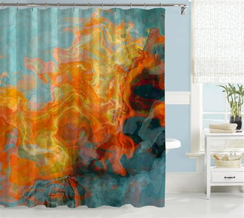 abstract shower curtains abstract shower curtain contemporary bathroom decor orange