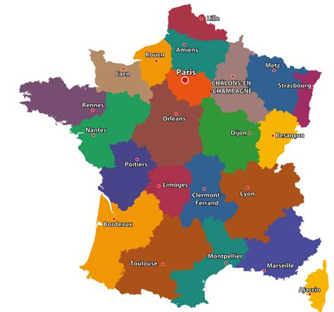maps of the regions of