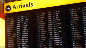 uk airport arrivals and departures information websites uk weather fresh snowfall puts airports on standby as