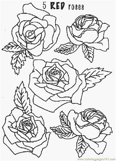 Free Coloring Pages Of Roses And Flowers Coloring Pages Flowers Roses