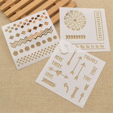 plastic templates for card 1pc layering plastic stencil template for diy scrapbooking
