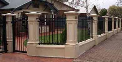 concrete fence pillars columns adelaide fence centre