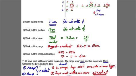 stem and leaf diagram gcse gcse revision 16 stem leaf diagrams