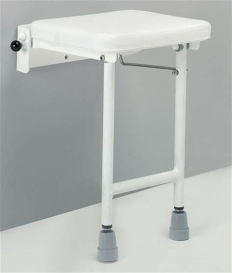 wall mounted padded shower bench denton wall mounted fold away shower seat bathroom stool