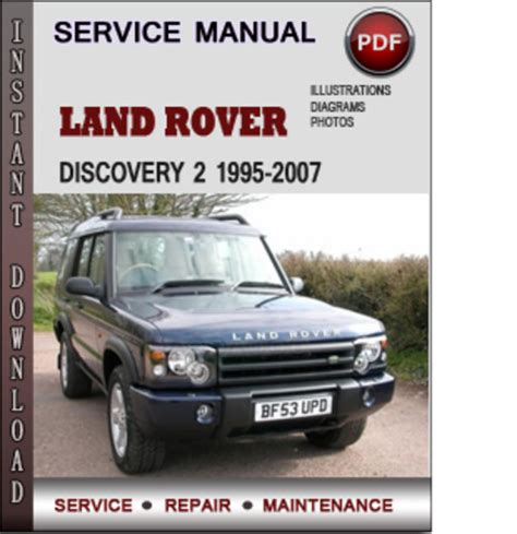 car repair manuals online pdf 1998 land rover discovery parking system land rover discovery 2 1995 2007 factory service repair manual down