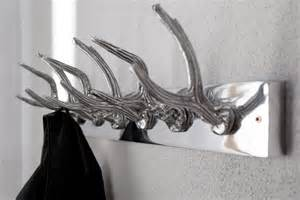 garderobe hirschgeweih metall wandgarderobe deer hirsch geweihe haken leiste metall