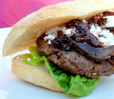 ostrich burgers with biltong feta and red wine sauce jesska co za