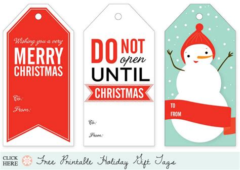 printable christmas swing tags printable tags in red blue and white let s create