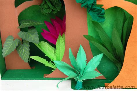 How To Make Rainforest Trees Out Of Paper - rainforest habitat diorama craft crafts