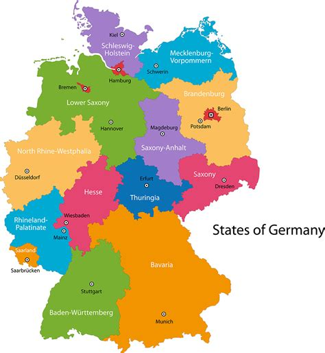 map of germany with cities and states germany facts interesting facts about germany