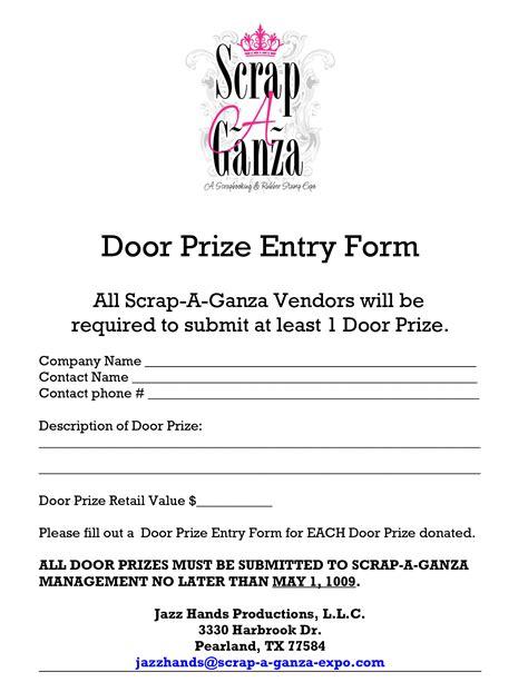 printable tickets for door prizes 3 best images of printable door prize slips free door