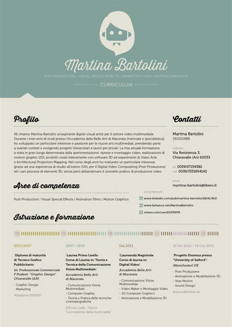 different design of curriculum vitae love the header and the different approach with no white