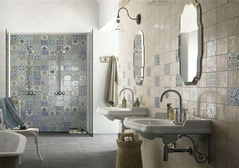 bagni rustici rivestimenti piastrelle per il bagno rustico colori e rivestimenti