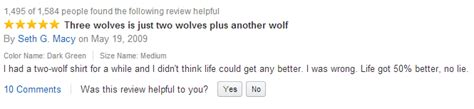 Wolf T Shirt Meme - funny reviews the top 10 funniest reviews on
