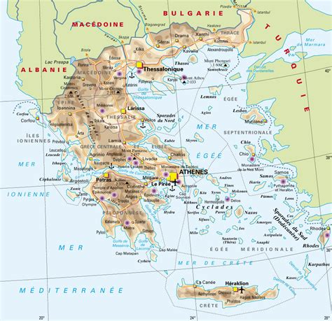 la carte et le 2081365456 infos sur carte de grece arts et voyages