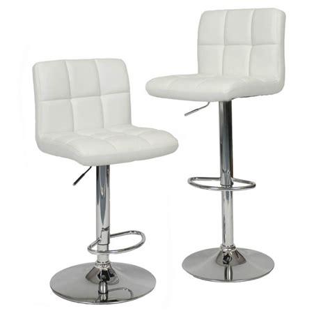 3 White Bar Stools by 35 Stylish Modern Adjustable White Leather Bar Stools