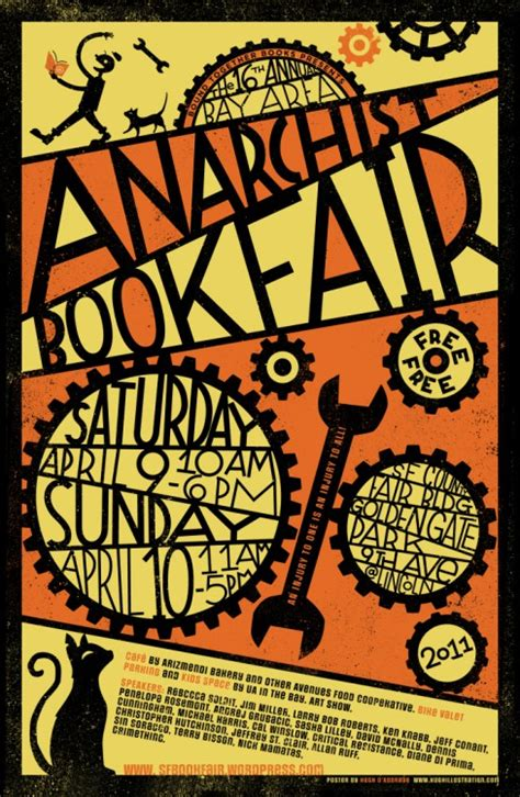 design poster book posters bay area anarchist bookfair