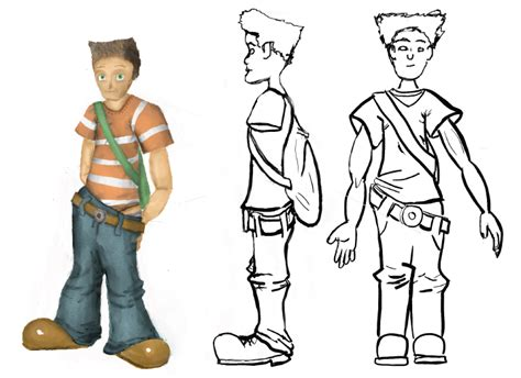 mypaint character drawing 3d template by treflemeilleur on