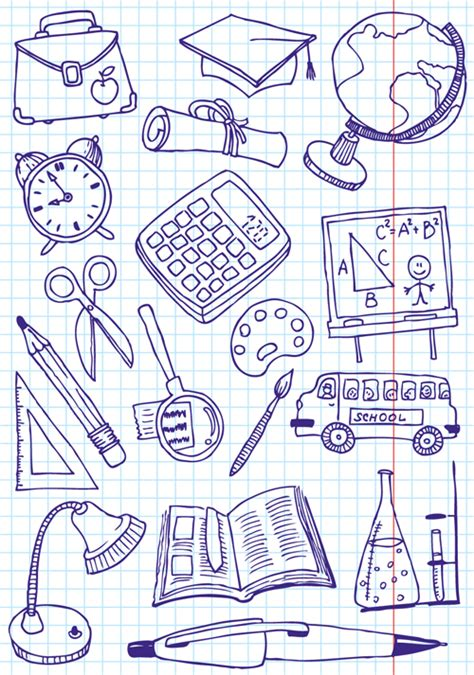 doodle academy drawings school creative vector 03 vector other free