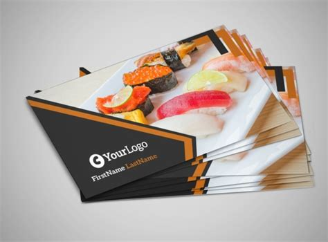 Free Business Cards Templates For Restaurants by Outstanding Sushi Restaurant Business Card Template