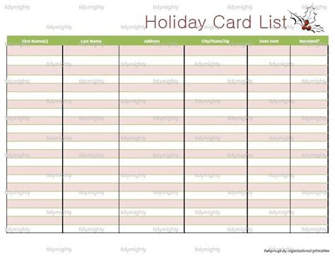 card list template excel card list organizer printable by