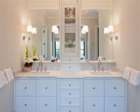 cabinet between bathroom sinks cabinet between sink home design ideas pictures remodel