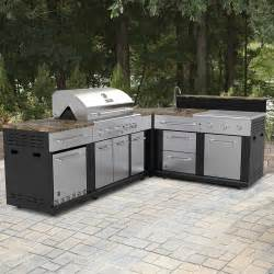 Modular Outdoor Kitchen Cabinets by Master Forge Corner Modular Outdoor Kitchen Set Lowe S