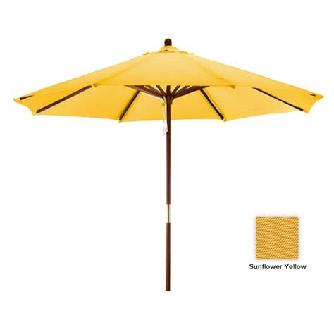 Yellow Patio Umbrella Sunline 9 Sunflower Yellow Market Patio Umbrella Westwood Pool Company