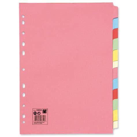 file dividers plain multi coloured file dividers