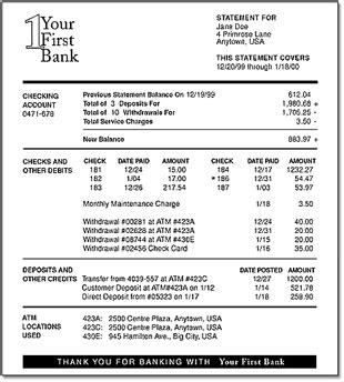 The Mortgage Press Use Your Bank Statements As Income Personal Bank Statement Template