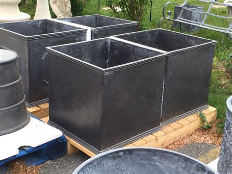 Square Outdoor Planters Large by Large Square Lead Planter