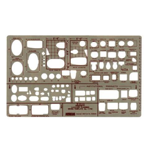 Pickett Lavatory Planning Template 1170i Pickett Drafting Templates