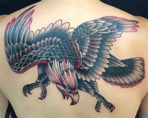 american traditional tattoo eagle unify company tattoos bart