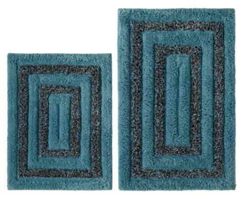 blue pattern bath rug cotton craft bath rug set tweed race track pattern