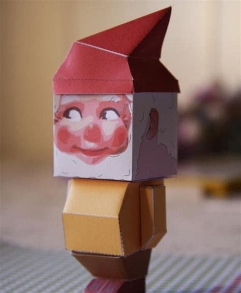 printable paper gnomes gnome paper toy jpg