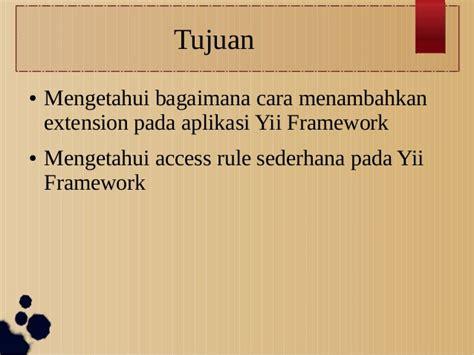 tutorial membuat aplikasi dengan yii framework membuat aplikasi kesiswaan menggunakan yii framework bagian 4