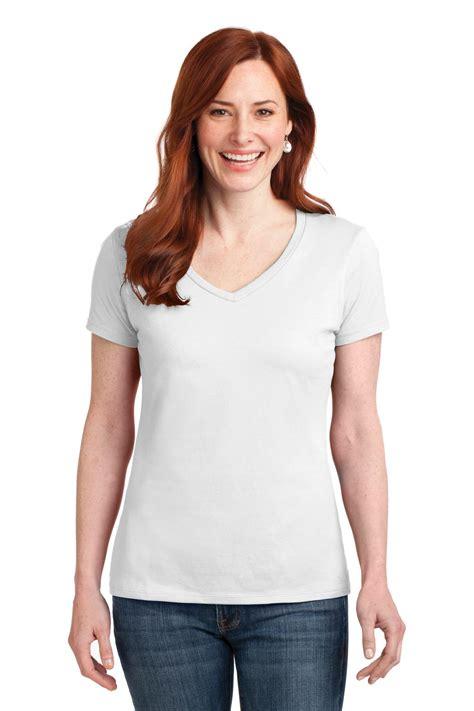Kaos Supremebeing Black List White hanes 174 nano t 174 cotton v neck t shirt s04v